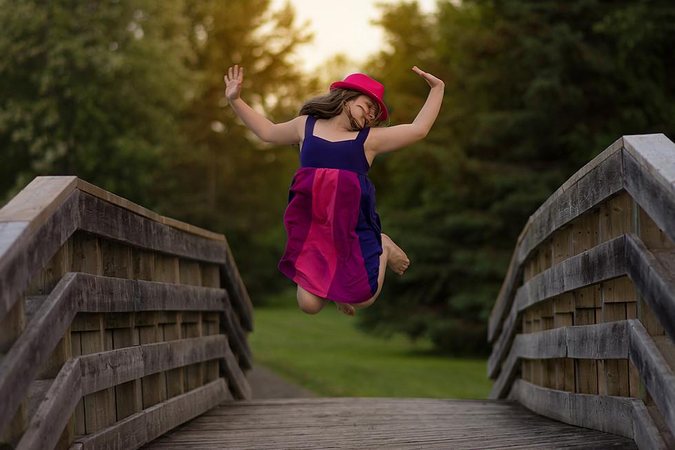 Jumping Girl Portrait