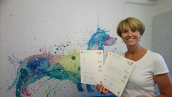 Student and their certificate