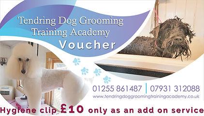 tendringdog grooming academy voucher money off