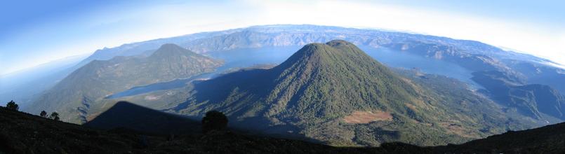 Lago Atitlan Panoramic View, Lake Atitlan, Guatemala
