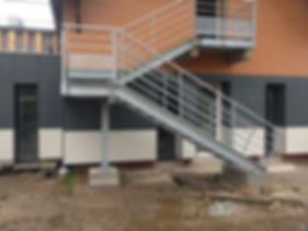 escalier métallique rouen