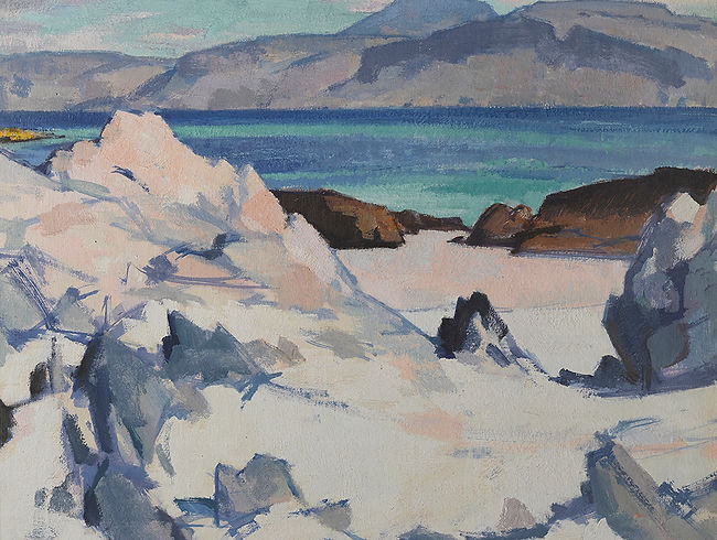 Samuel-Peploe-Green-Sea-Iona-oil-on-canv