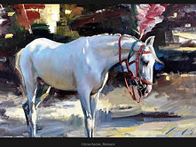 15. Circus Horse, Oil on Canvas, 71 x 130cm.jpeg