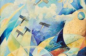 TULLIO CRALI (1910-2000) Volo verso l'ignoto (Painted in 1936) Estimates_35,000 - 55,000.j