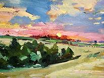 4. Sunset at Les Mazasses, 30 x 45cm.jpeg