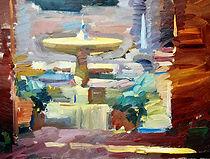 10. Courtyard fountain in Cordoba. 45 x 60cm.jpeg