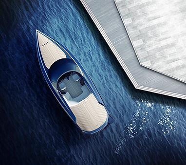 Quintessence Yachts unveils first Aston Martin speedboat designs.