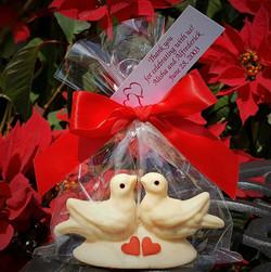 Chocolate Doves in Love