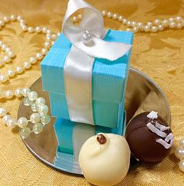 wedding favor with 2 truffles