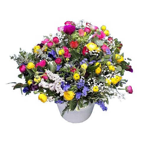 זר פרחים למשלוחחורפי כפרי מנוריות וכלניות