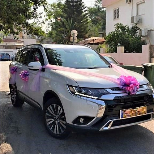 Mitsubishi car decorated for the wedding with decoration number 89-1