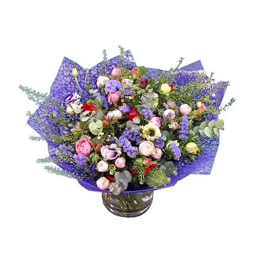 זר תערובת מנוריות - משלוח פרחים