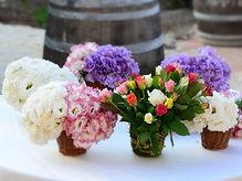עיצוב בפרחים לחתונה כפרית