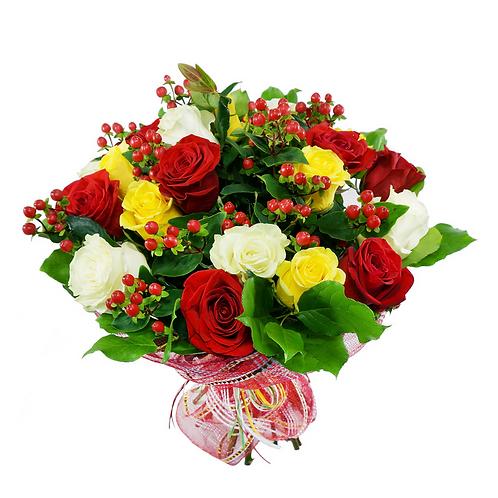 זר מכל הלב - משלוח פרחים