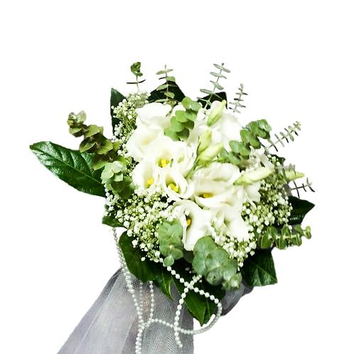 זר כלה 6 מפרחים טריים בשזירה מקצועית