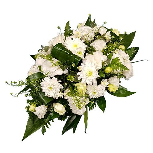 סידור פרחים טריים בשם לבנים מאורך