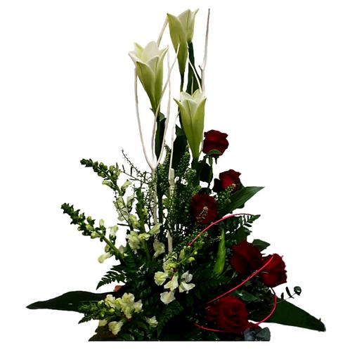 סידור פרחים טריים בשם אקסטרווגנזה