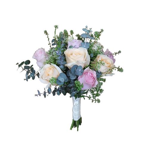 זר כלה 14 מפרחים טריים בשזירה מקצועית