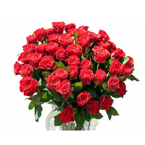 זר ים ורדים - משלוח פרחים