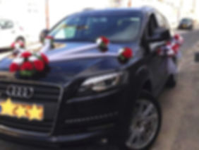 רכב אאודי מקושט לחתונה
