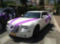 לבן מקושט להשכרה C300 רכב לחתונה: קרייזלר