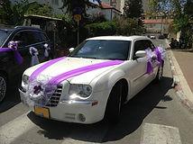 קישוט רכב לחתונה מס'34