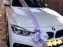 קישוט רכב לחתונה מס'2