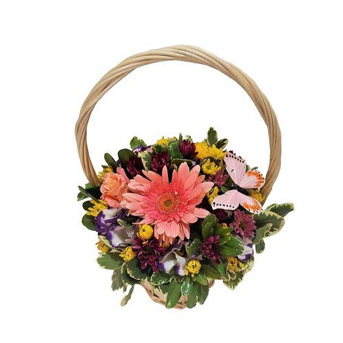 """Flower arrangement """"Flowers and butterflies"""""""