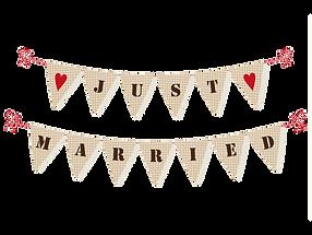דגלי גרלנד לקישוט רכבי חתונות