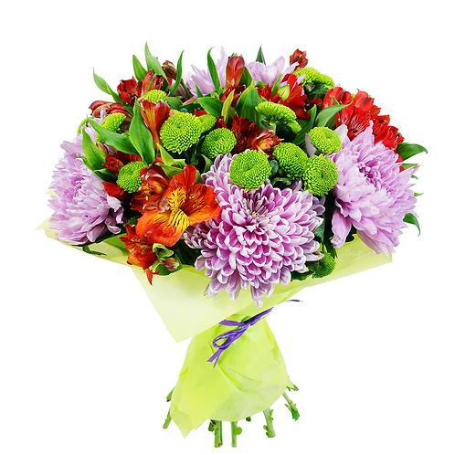 זר פרחים של פרחי לימו מחמם לב, אך יוקרתי שמתאים לשלל אירועים