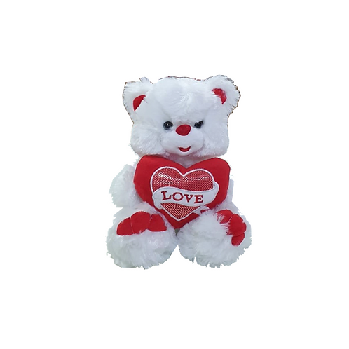 דובי לבן עם לב אדום