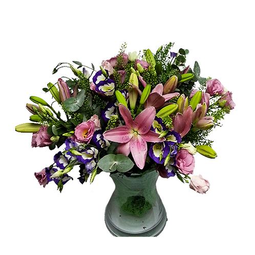 זר חלום ורוד - משלוח פרחים