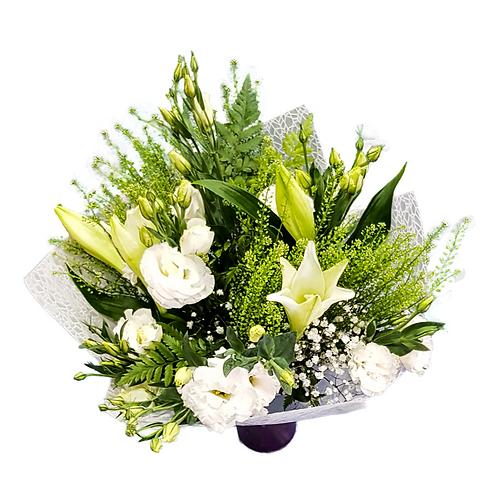 זר לבן נטו - משלוח פרחים