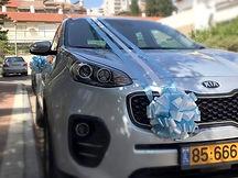 קישוט רכב לחתונה מס'56
