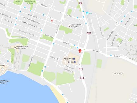зал для тренировок Крав Мага в Акко (карта)