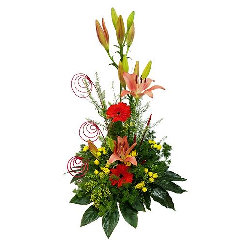 סידור פרחים טריים בשם חזותי