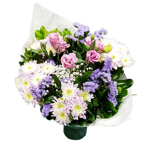 זר סגול - משלוח פרחים