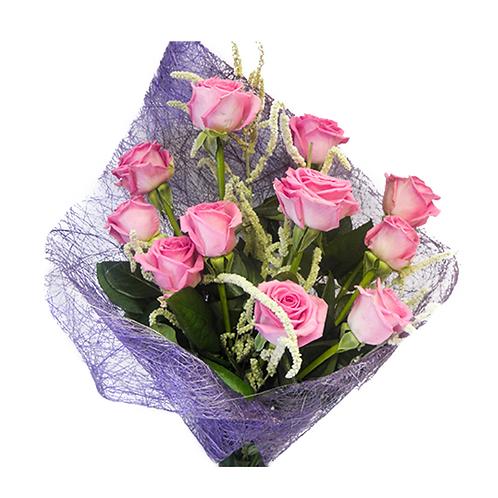 זר רומנטי - משלוח פרחים