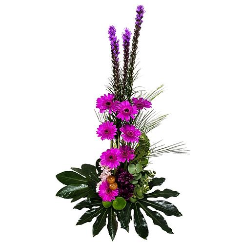 סידור פרחים טריים בשם לילך