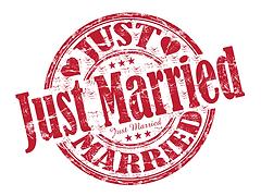 מדביקה ג'סט מארייד להזמנה לחתונה