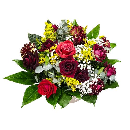 זר ורדים ללב - משלוח פרחים