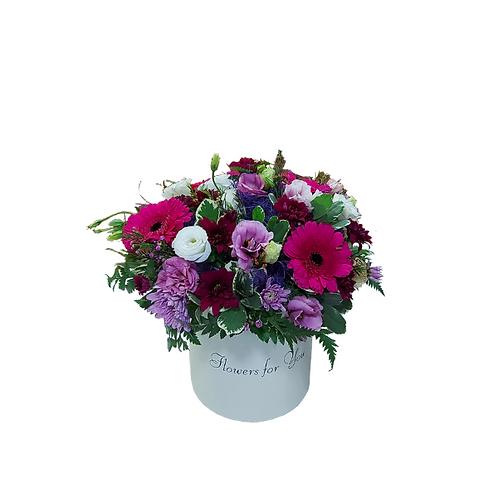 סידור רומנטי חורפי מפרחים טבעיים