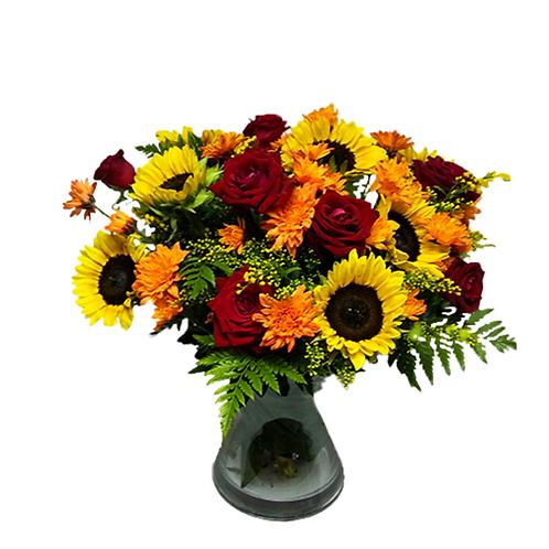 זר שדה אש - משלוח פרחים