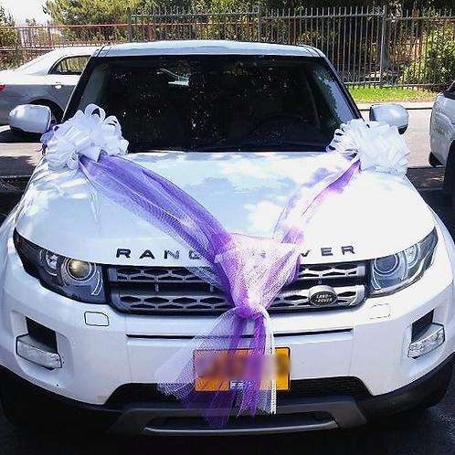 לנד רובר בקישוט רכב לחתונה