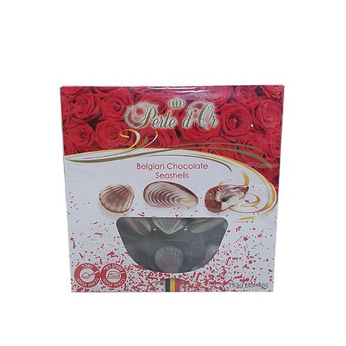 צדפי שוקולד בלגי במילוי קרם פרלין