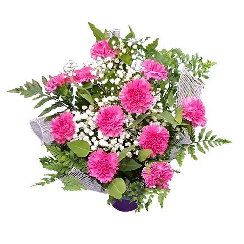 זר ציפורן ורוד - זר פרחים למשלוח