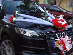 קישוטי רכב לחתונה להשכרה