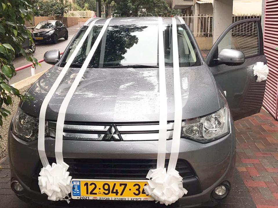 קישוט רכב לחתונה בראשון לציון