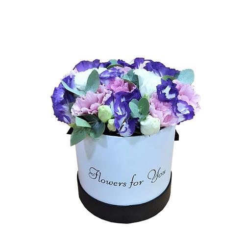 סידור פרחים  שניקרא פסטל וורודה-סגולה