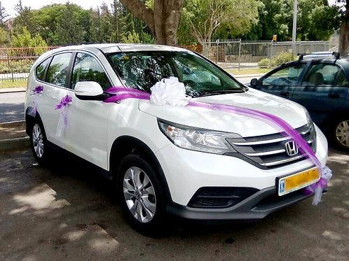 הונדה מקושט לחתונה בצפון ישראל SUV